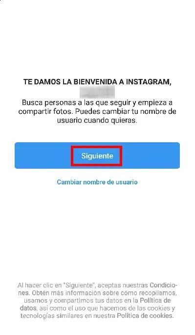 bienvenida Instagram