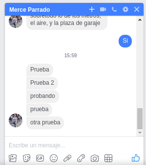 captura conversación