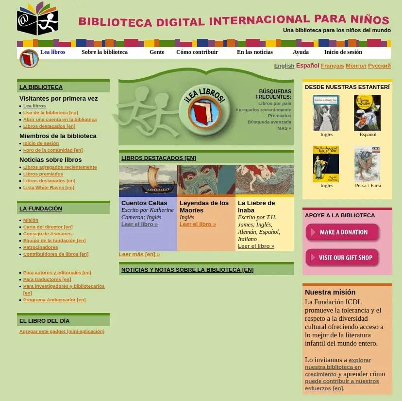 biblioteca digital internacional de niños