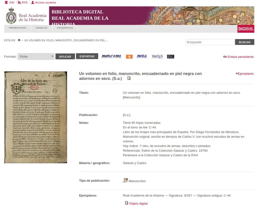 biblioteca digital real academia de la historia