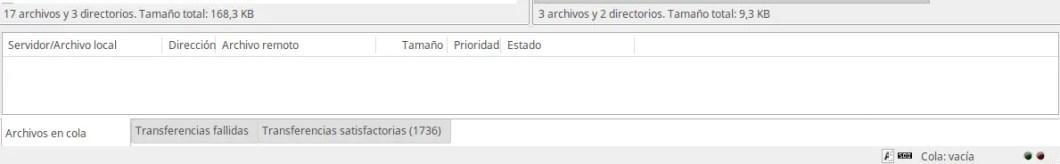 archivos transferidos WordPress