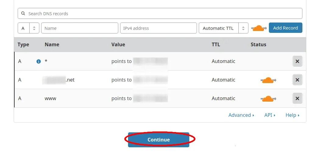 configuracion dns web