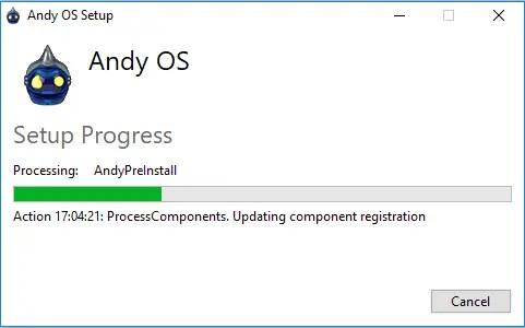 instalación Andy OS