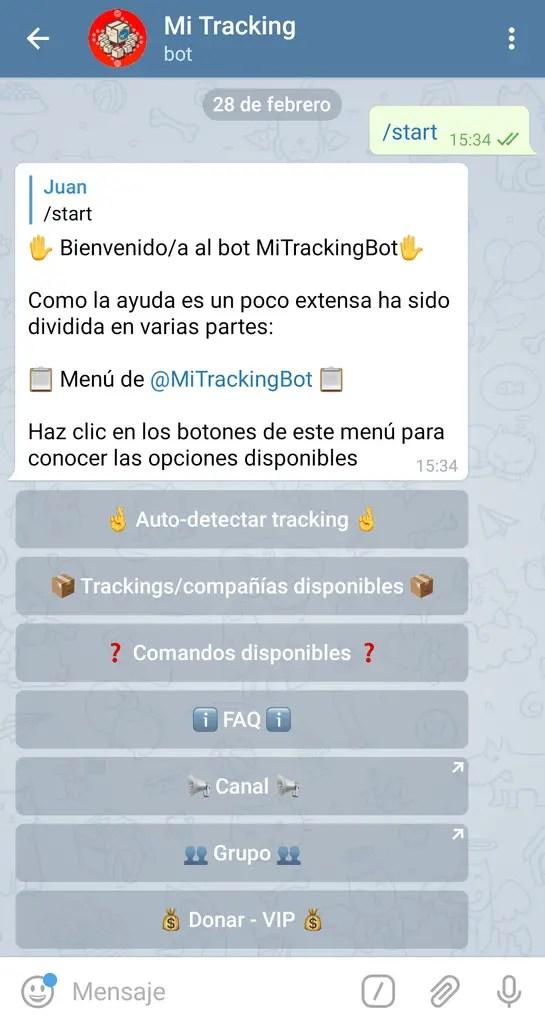 comandos mi tracking
