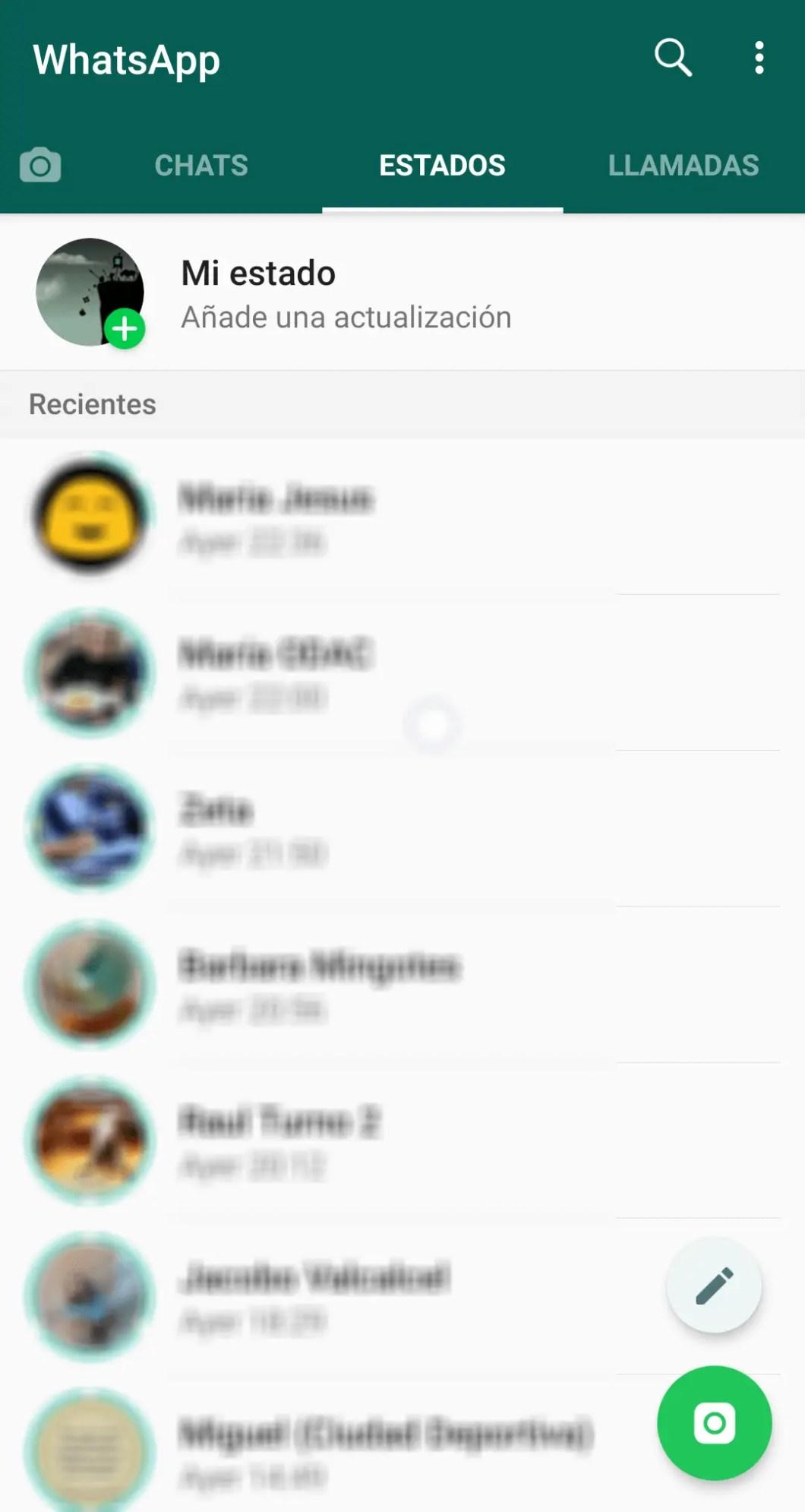 mirar estados de whatsapp