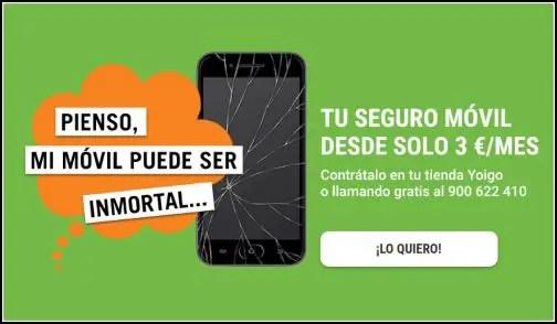 seguro para móviles de Yoigo