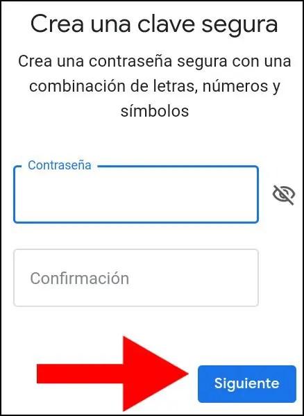 Introducir contraseña de Google