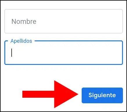 nombre y apellidos en cuenta de Google
