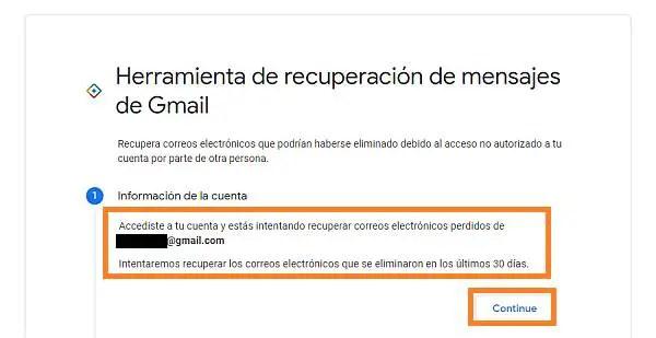 herramienta para recuperar correos de Gmail