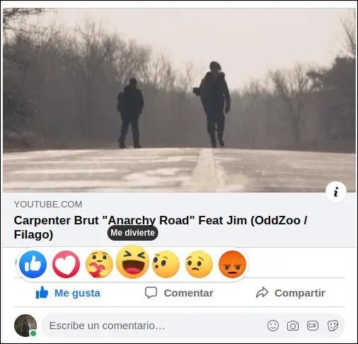 cambiar reacción Facebook