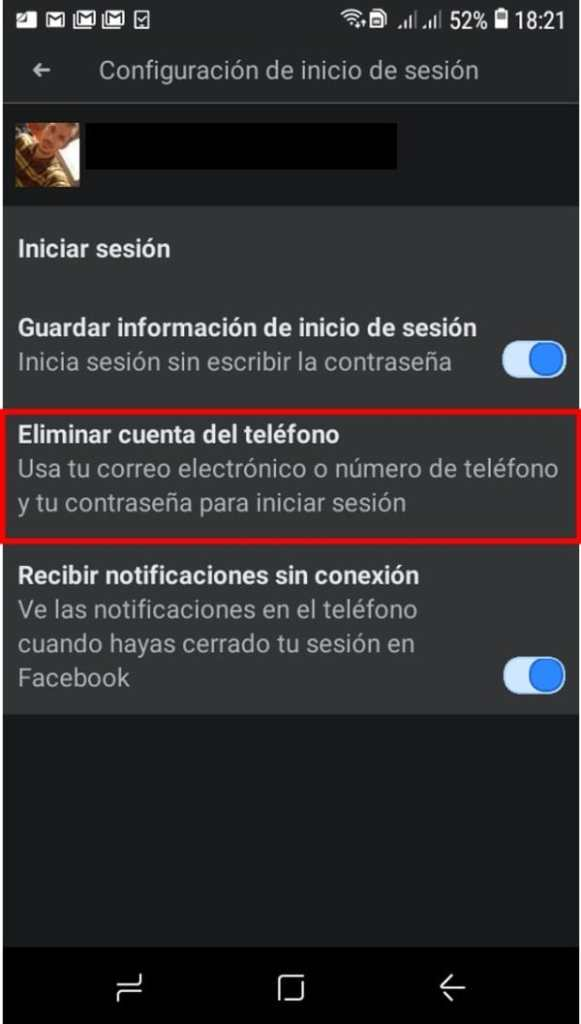 Cómo borrar correo de Facebook en celular_2