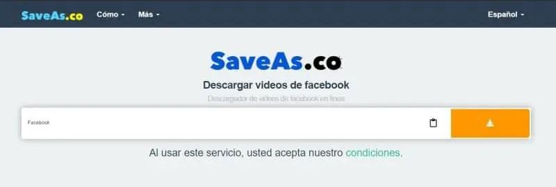 Mejores webs para descargar vídeos privados de Facebook_save as