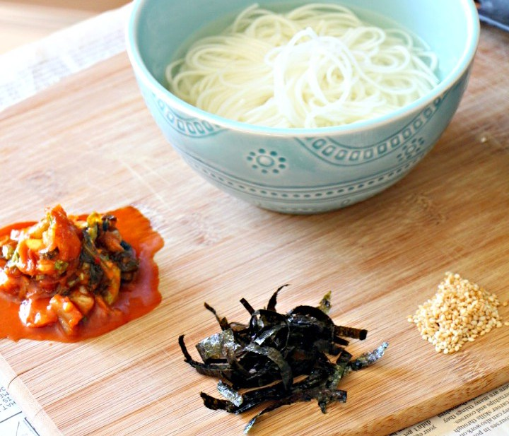 Korean Warm Noodle Soup + 2 Incredible Side Dishes (GF, Oil-Free)