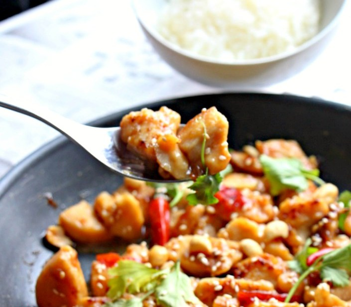 Classic Kung Pao Chicken in 30 minutes (GF, Paleo, Oil-free)