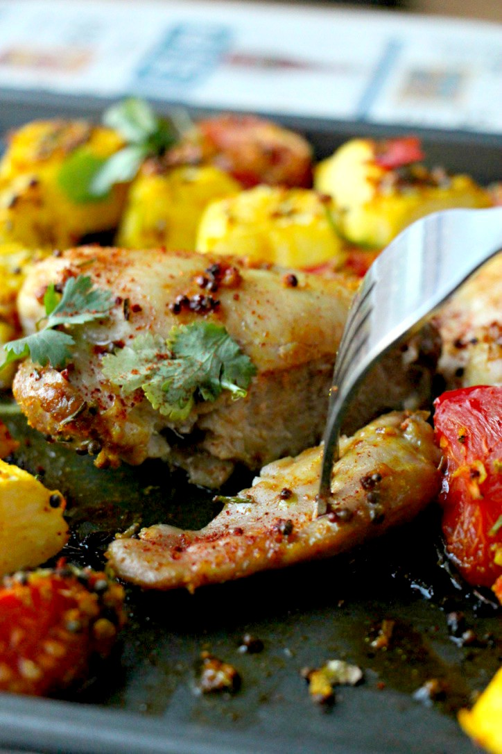 Jamie Oliver's Low-Carb Indian Spiced Chicken Bake (Paleo, GF, Oil-Free)