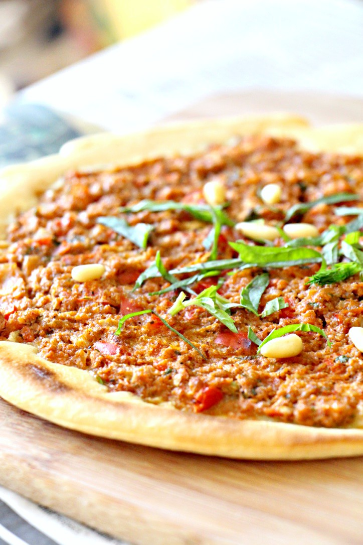 Paleo Turkish Pizza Lahmacun (GF, Vegan, Nut-Free, Oil-Free)