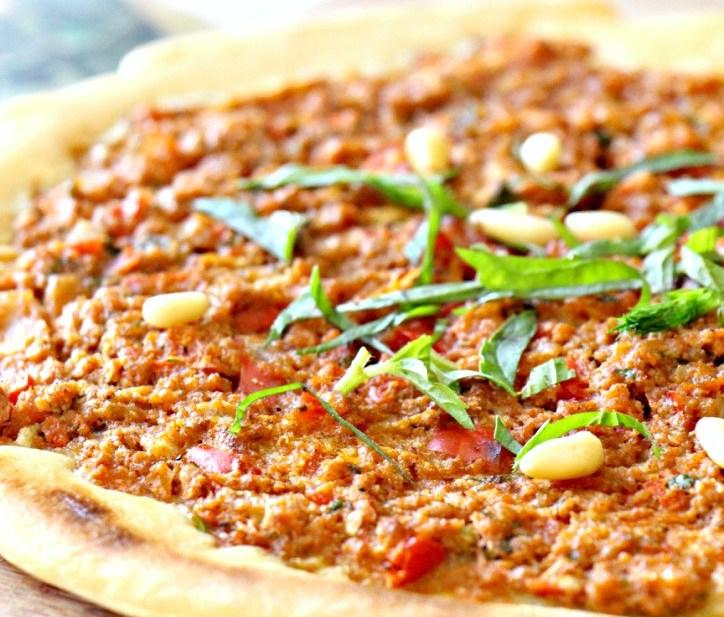 Paleo Turkish Pizza Lahmacun (GF, Vegan, Nut-Free, Oil-Free)