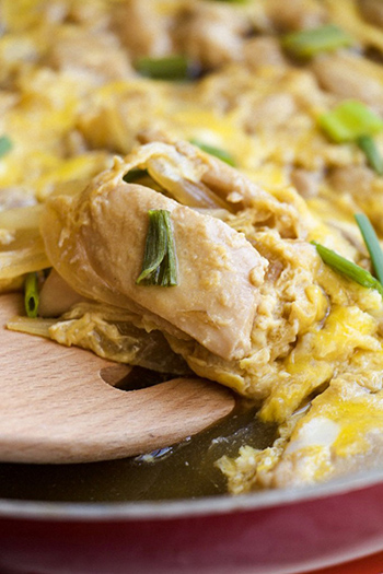 Oyakodon Japanese Chicken and Egg (GF, Paleo, Oil-Free)