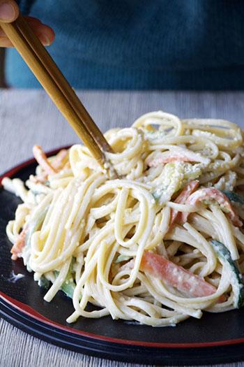 15 MIN Shanghainese Sesame Noodles (GF, Vegan)