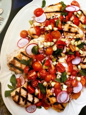 Grilled chicken final dish