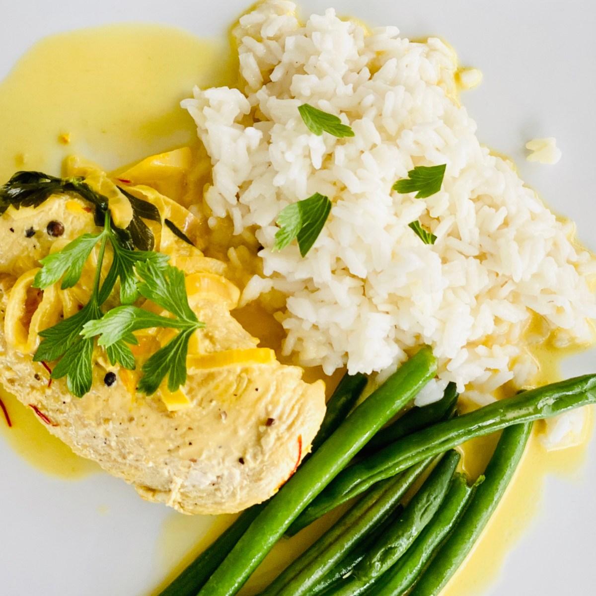 Saffron cream chicken recipe