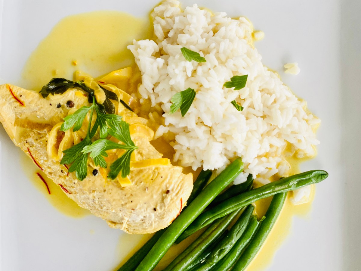 Saffron cream chicken recipe
