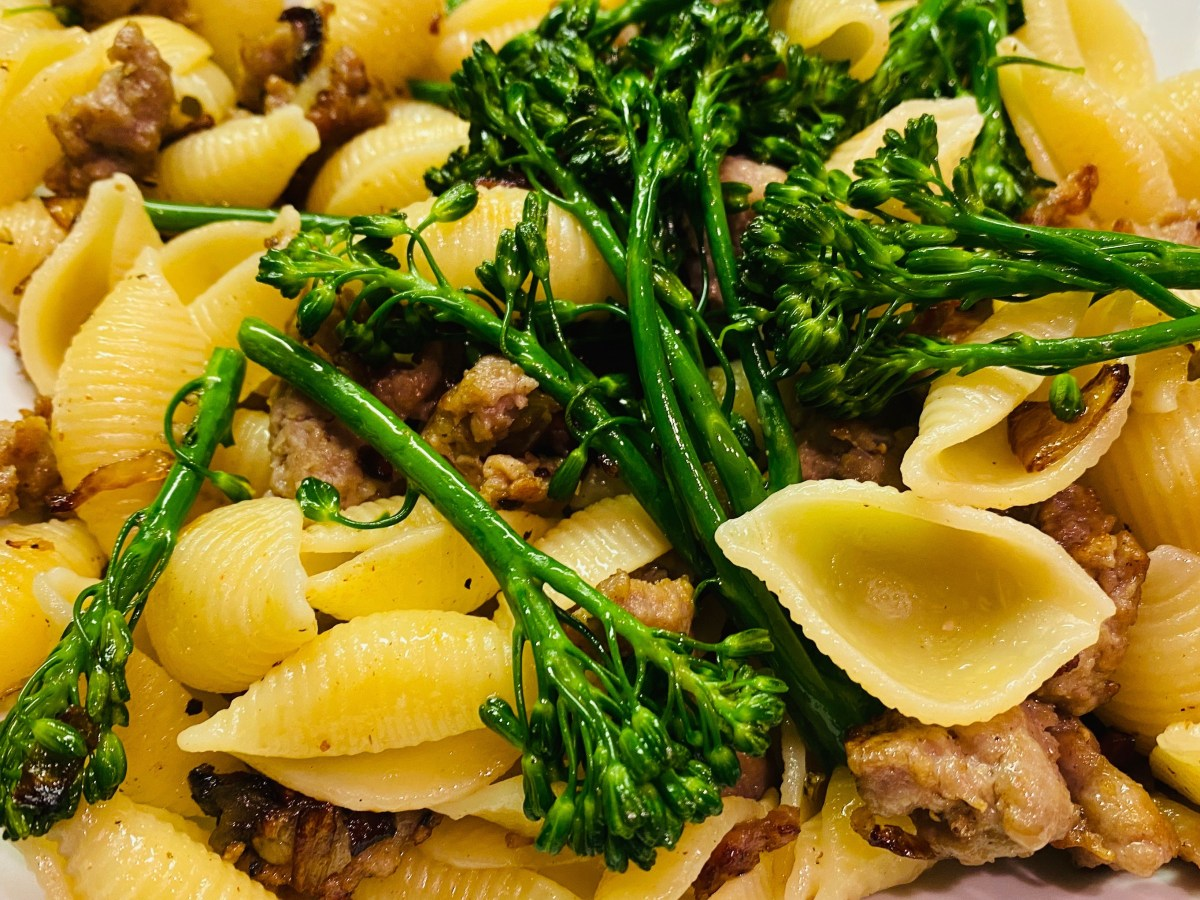 Broccolini with Italian Sausage Pasta