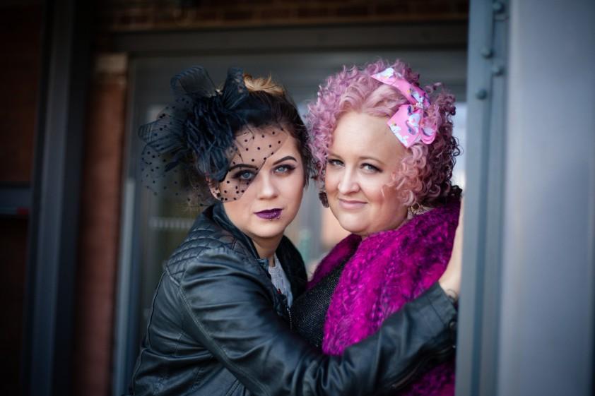 My Pretties UK - Wedding couple - Rachel and Danni - alternative wedding