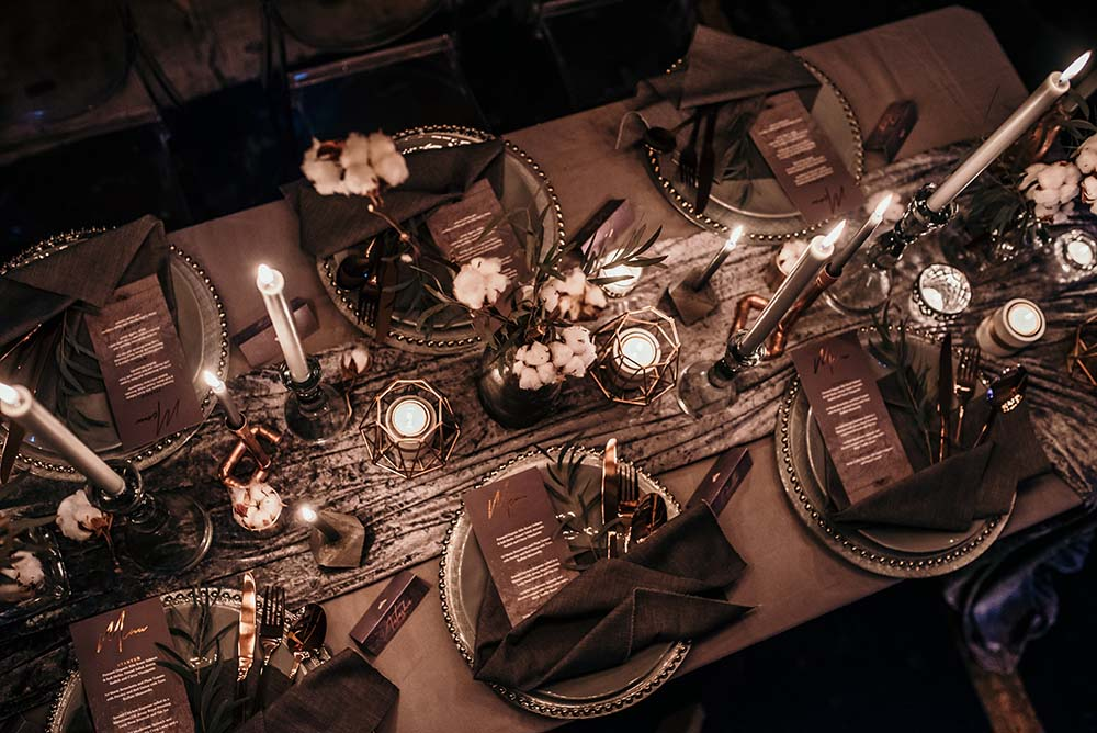 The Urban wedding company 7 - tablescape - industrial - alternative - unconventinal