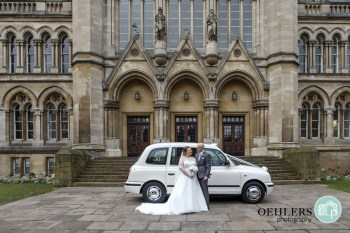 Getting There on Time in the White London Taxi - Alternative Wedding Transport - Unconventional Wedding