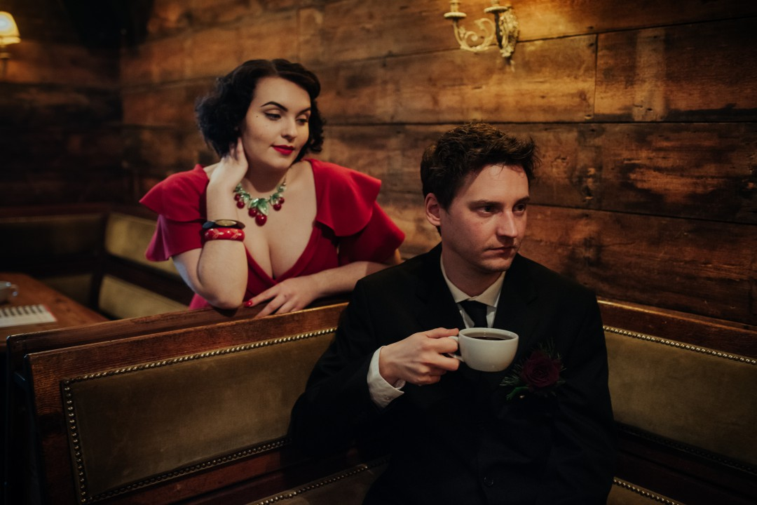 A Twin Peaks Wedding Styled Shoot - alternative - unconventional - coffee shop