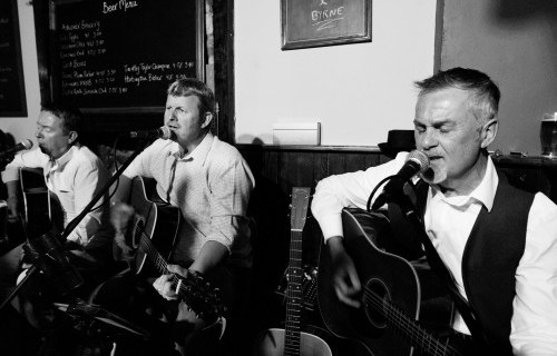 Flint, 'More and Byrne Acoustic band - acoustic singing three piece band