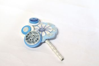 charlotte laurie designs - alice in wonderland - alternative wedding button hole - unconventional groom