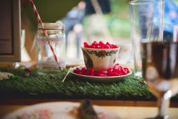 Nick Brightman Photography Alice in Wonderland wedding - tea cup - alternative wedding photography - unconventional wedding photographer