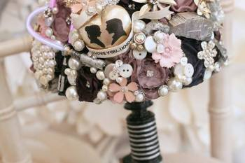 Maddison Rocks Floral Sculptures - star wars wedding inspiration - alternative wedding bouquet - alternative wedding accessories - lightsaber