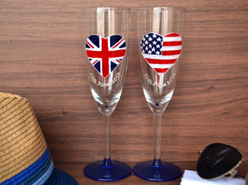 Me time glass - UK - USA glasses - wedding gift - unconventional royal wedding