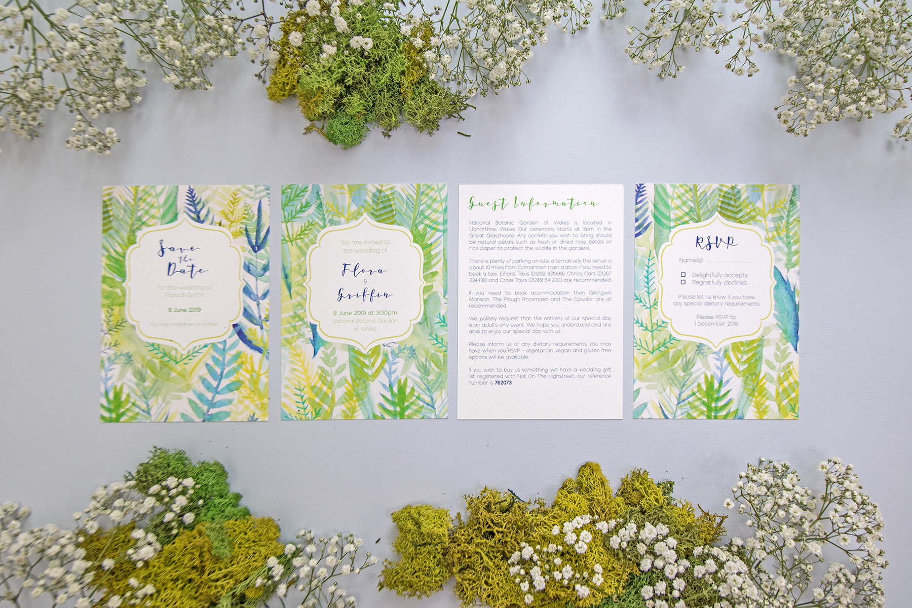 Fir Gold Wedding Stationery Unconventional Wedding Directory