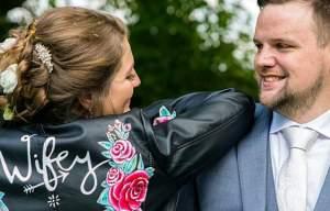 Sammy Lea's Retro Emporium - wifey leather wedding jacket