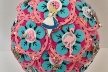Alice in Wonderland wedding inspiration - custom bespoke bouquet - alternative and unconventional wedding