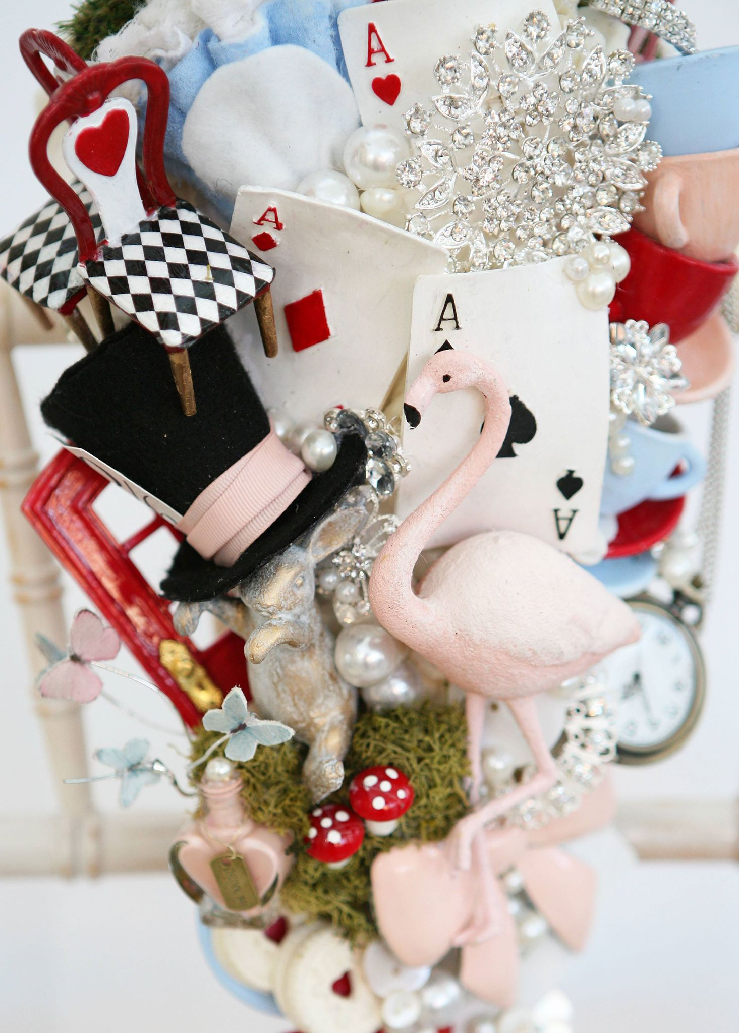 Alice in Wonderland wedding inspiration - custom bouquet jewelled 2 - alternative and unconventional wedding