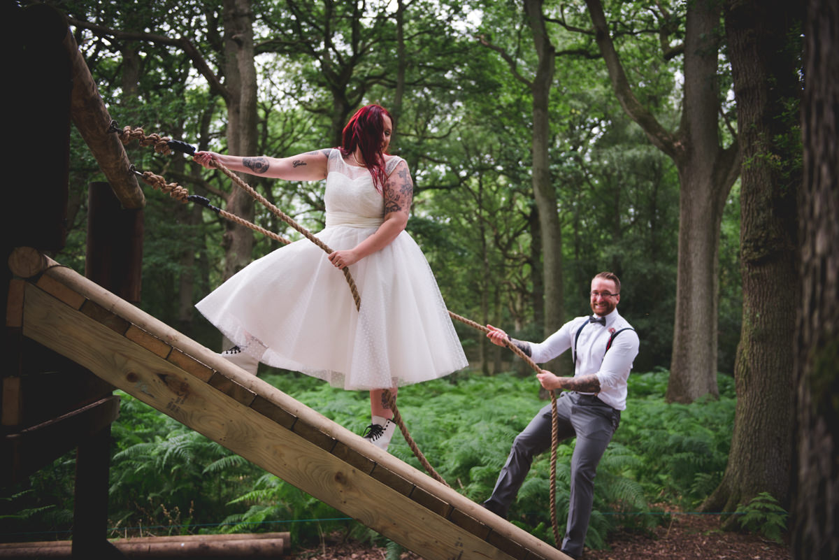 photographer - Nick Brightman - woodland wedding