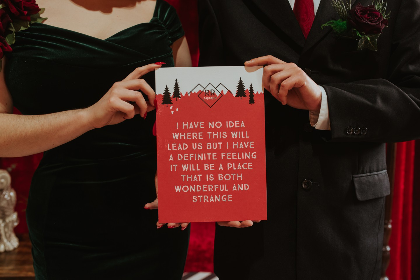 A Twin Peaks Wedding Styled Shoot - alternative - unconventional - quote