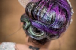 Peacock barns - alternative unconventional wedding photoshoot - rustic decadent - unicorn hair - ultraviolet