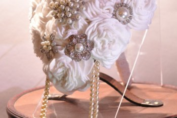 unconventional royal wedding - charlotte laurie - white - siler - alternative bouquet