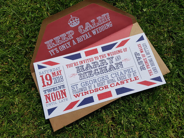 Made By Rae Designs - alternative royal wedding - red white blue wedding stationery - keep calm