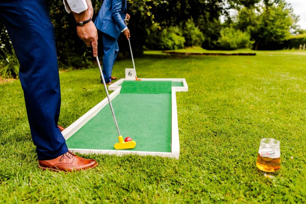 9 hole event hire - mini golf for weddings - wedding entertainment - alternative wedding entertainment 8 - crazy golf