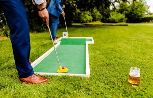 9 hole event hire - mini golf for weddings - wedding entertainment - alternative wedding entertainment 8