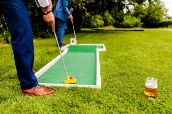 9 hole event hire - mini golf for weddings - wedding entertainment - alternative wedding entertainment 8 - crazy golf