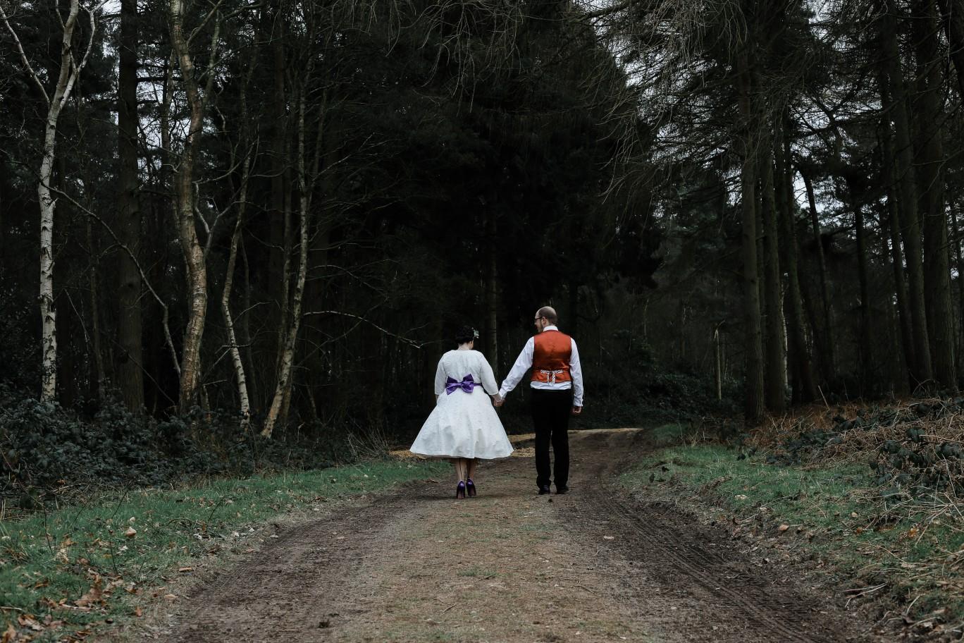 Becky Payne Photographer - Rainbow Unicorn Styled Wedding Shoot - Woods - Couple