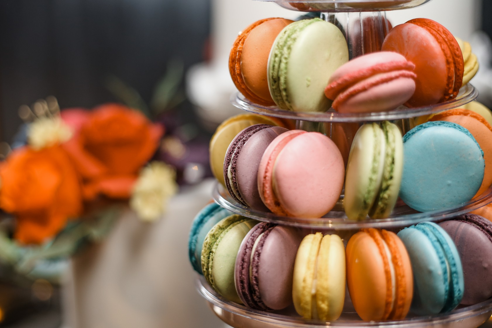 Becky Payne Photographer - Rainbow Unicorn Styled Wedding Shoot - Bright coloured macarons